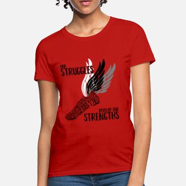 Running Shoe Wings Struggles & Strengths - Women's T-Shirt