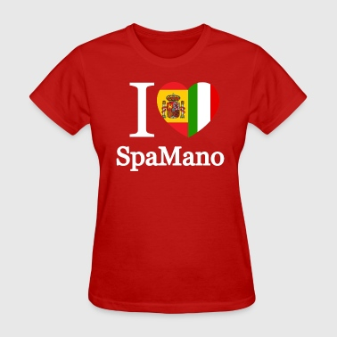 i_love_spamano_black_tshirt - Women's T-Shirt