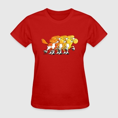 """Icelandic Power"" -Icelandic Horse - Women's T-Shirt"