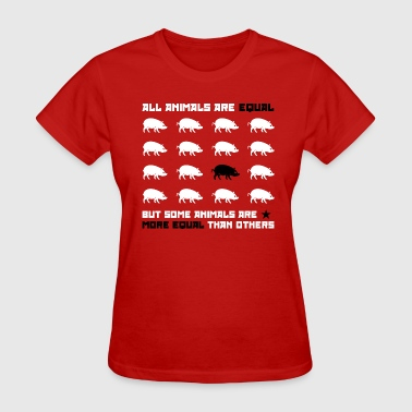 Farm All animals are equal 2 (red) - Women's T-Shirt