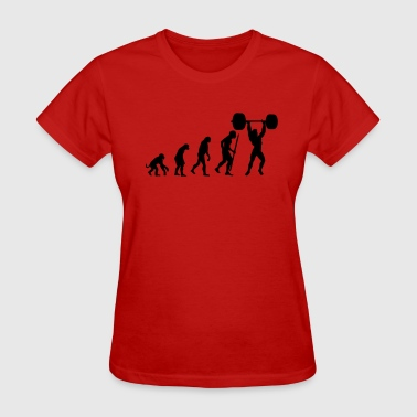 Evolution of pumping iron - Women's T-Shirt