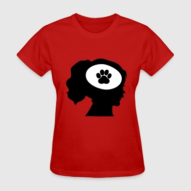 Only Think About My Dog - Women's T-Shirt