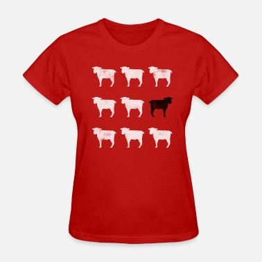 Black Sheep White Many White Sheep: One Black Sheep - Women's T-Shirt