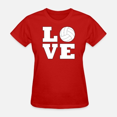 I Love Volleyball Volleyball Love - Women's T-Shirt