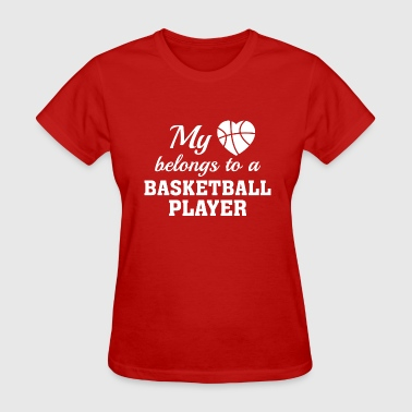 My Heart Belongs To A Baller Heart Belongs Basketball - Women's T-Shirt
