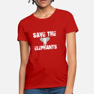 2d1ce509074543 Save The Elephants Nature Animals Gift Environment - Women  39 s T-Shirt