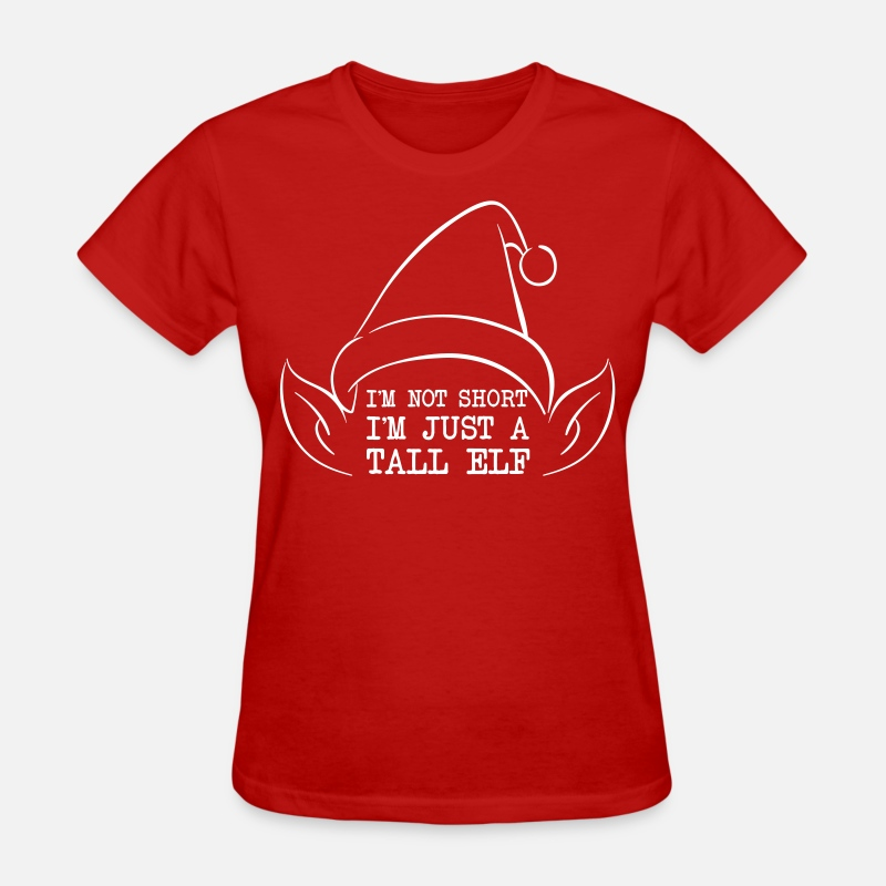 Christmas T-Shirts - I'm not short I'm just a tall elf - Women's T-Shirt red