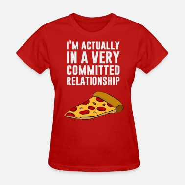Pepperoni Love Pepperoni Pizza Love - A Serious Relationship - Women's T-Shirt