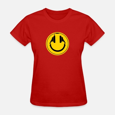 Plug Dj Headphones smiley wire plug - Women's T-Shirt