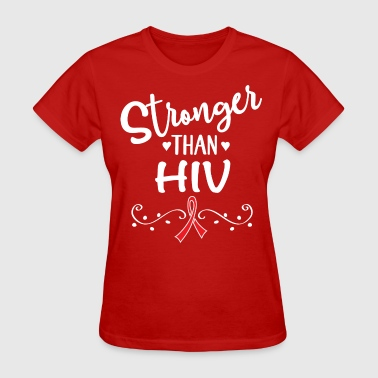 Stronger Than HIV Awareness Ribbon - Women's T-Shirt