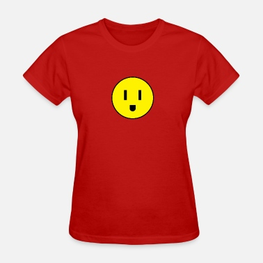 Current electrical outlet smiley - Women's T-Shirt