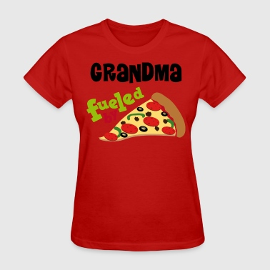 Pepperoni Quotes Grandma Fueled By Pizza - Women's T-Shirt