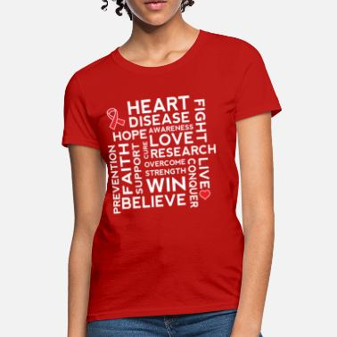 Heart Heart Health Awareness Month Ribbon - Women's T-Shirt