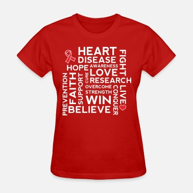 Disease Heart Health Awareness Month Ribbon - Women's T-Shirt