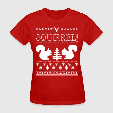 Squirrel Ugly Sweater - Women's T-Shirt