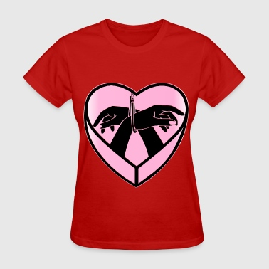 Heart Love Handcuff Hands  © - Women's T-Shirt