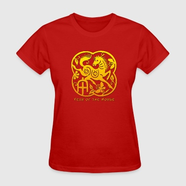 Year of The Horse Paper Cut - Women's T-Shirt