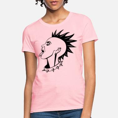 Emo Punk Chick HD Vector - Women's T-Shirt