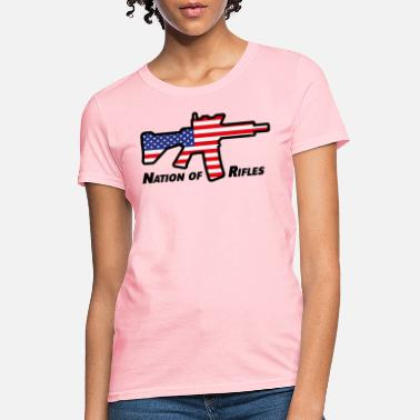 Assault Rifle Nation Of Rifles (USA / United States Of America) - Women's T-Shirt