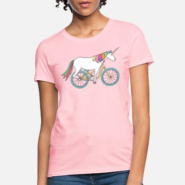 For Her unicorn riding bike - Women's T-Shirt