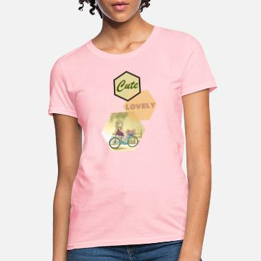 Lovely Cute lovely girl with her flower basket - Women's T-Shirt