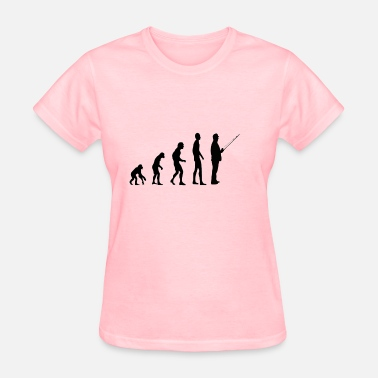 Monkey Fish Evolution Fishing - Women's T-Shirt