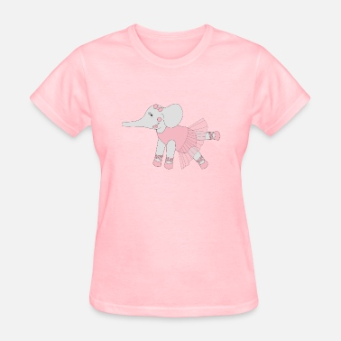 Ballerina Birthday Ballerina Elephant - Women's T-Shirt