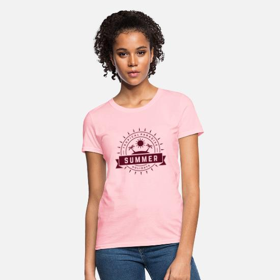Summer T-Shirts - Tropical paradise - Women's T-Shirt pink