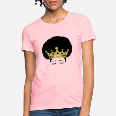Pro Afro Puff Crown Natural Hair Pride - Women's T-Shirt