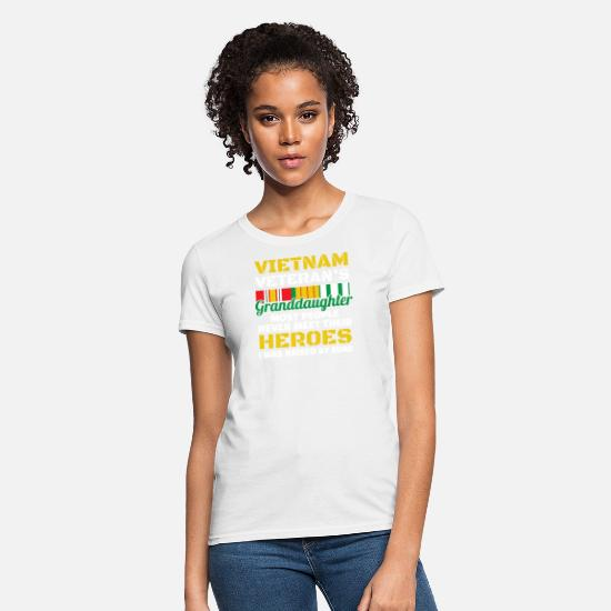 Granddaughter T-Shirts - Veterans Day - Vietnam Veterans Granddaughter - Women's T-Shirt white