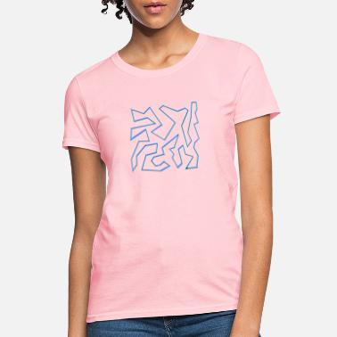 Meander Geo Abstract Blue - Women's T-Shirt