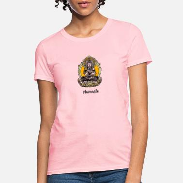Om buddha Namaste Yoga Meditation good india om chakr - Women's T-Shirt