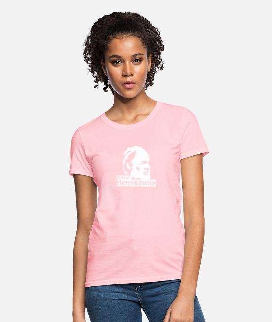 Movie T-Shirts - Ernest Hemingway - Women's T-Shirt pink