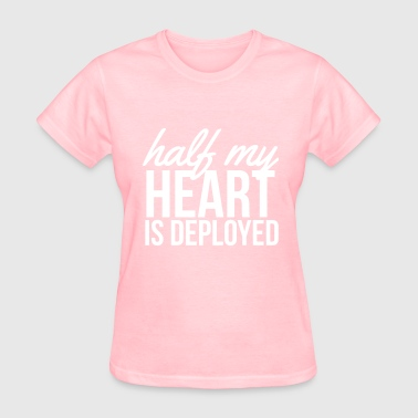 Half my heart is deployed - Women's T-Shirt