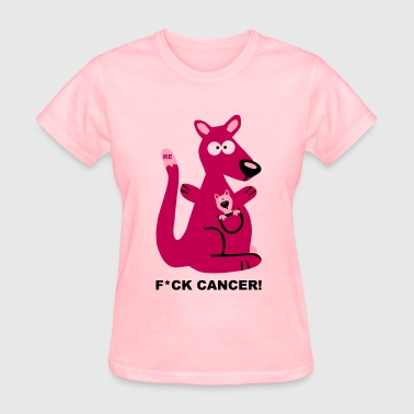 Fight Fuck Cancer Breast Comic Kangaroo Baby - Women's T-Shirt