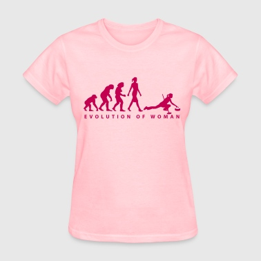 evolution_of_woman_curling_10_2016_b_2c - Women's T-Shirt
