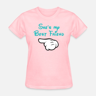 Shes My Bff My BFF Mickey hand pointing right - Women's T-Shirt