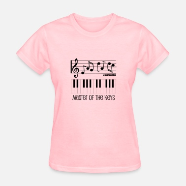 Piano Player Piano Keys and Musical Notes - Master of the Keys - Women's T-Shirt