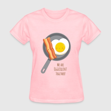 Bacon and Egg in Love - Women's T-Shirt