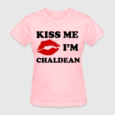 kiss_me_im_chaldean - Women's T-Shirt