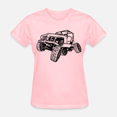In The Dunes Monster Cool Jeep - Women's T-Shirt