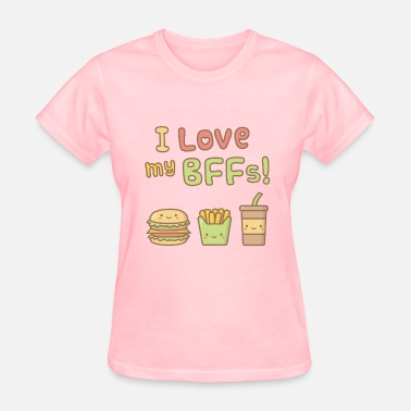 Amusingly Cute I Love my BFFs - Women's T-Shirt