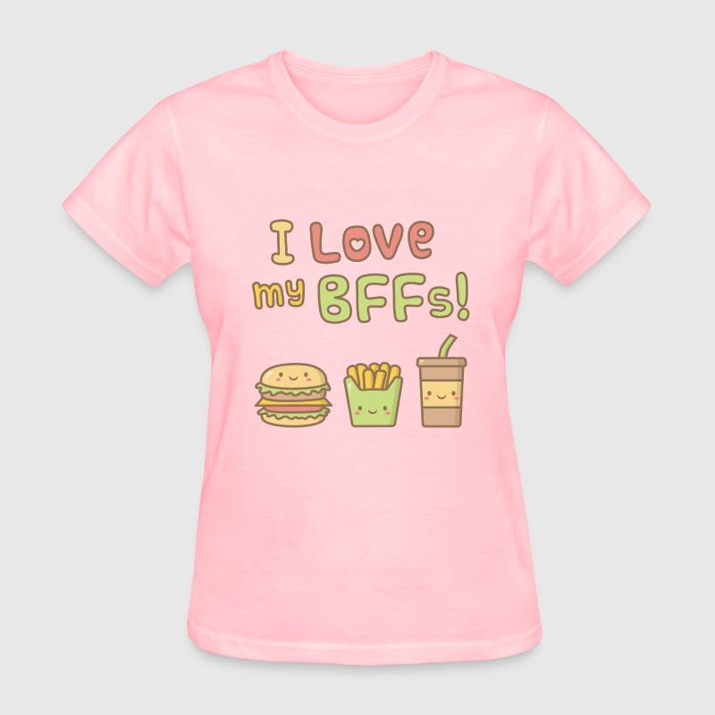 Cute I Love my BFFs - Women's T-Shirt