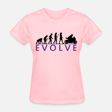 Evolution Motorcycle Evolution Biker Chick - Women's T-Shirt