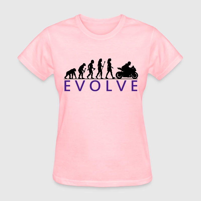 Evolution Biker Chick - Women's T-Shirt