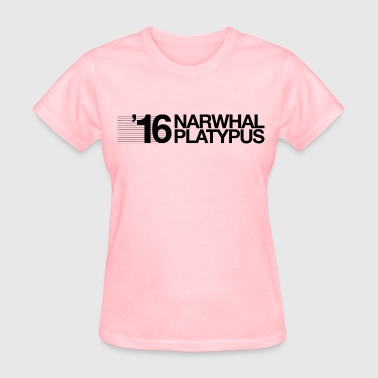 Narwhal + Platypus 2016 Black - Women's T-Shirt