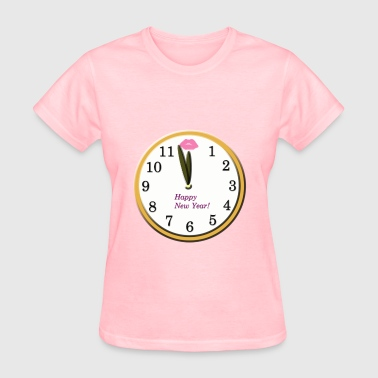 Happy New Year Clock - Women's T-Shirt