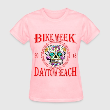 Daytona Bike Week Sugar Skull 2018 ©WhiteTigerLLC. - Women's T-Shirt