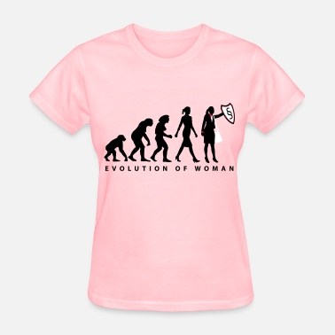 Lawyer Evolution evolution_female_lawyer_09_201601_3c - Women's T-Shirt