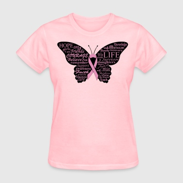 Funny Breast Cancer butterfly - Women's T-Shirt